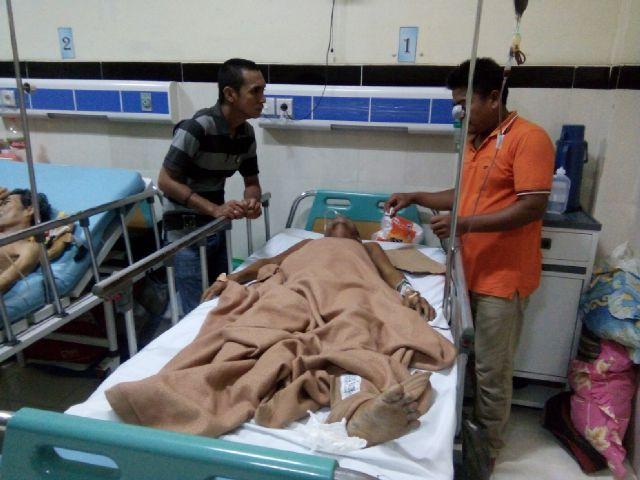 Sempat putus asa, Sunardi, putra pasien, mengucapkan banyak terima kasih pada pihak yang turut membantu perobatan sang ayah.
