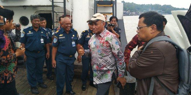 Ketua KPK, Agus Rahardjo saat meninjau tambang batubara