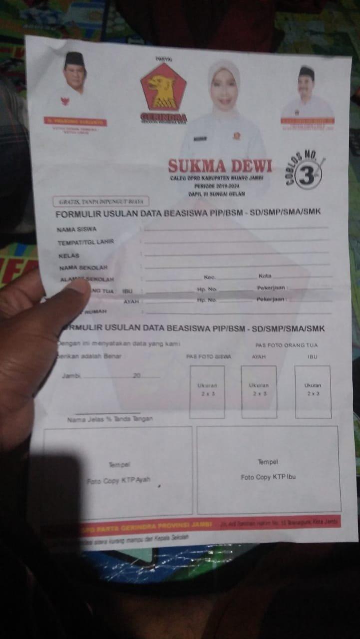 Kasus Caleg Gerindra Diduga Bagi Beasiswa Panwaslu Turun Tangan