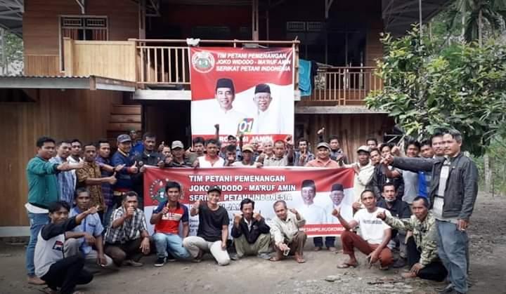 Berita Jambi Puluhan petani SPI dari berbagai kabupaten di Jambi, Senin (4/2) menggelar Konsolidasi Tim Pemenangan Jokowi Ma'ruf Amin.