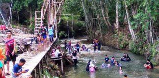 Objek wisata baru di Waskita. Kabupaten Merangin ini diminati warga. Foto : Ramadhan.