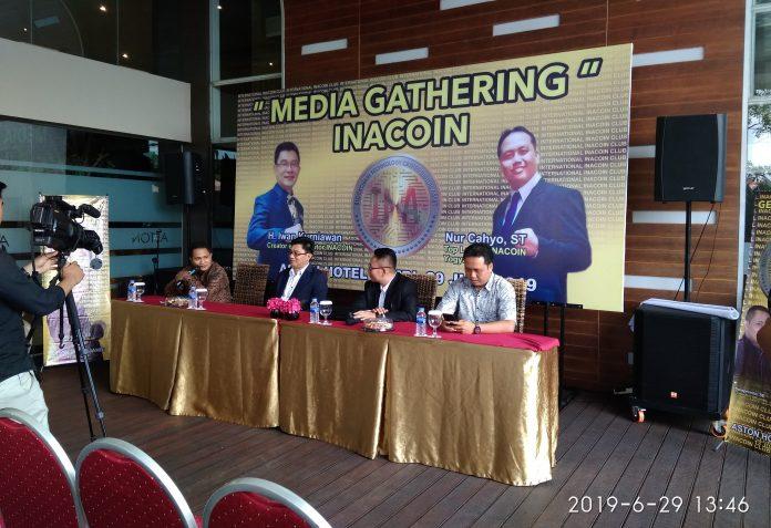 Setahun hadir, INACOIN melebarkan sayap ke Jambi. INACOIN gelar acara Media Gathering di Hotel Aston Jambi, Sabtu (28/6/19) siang.