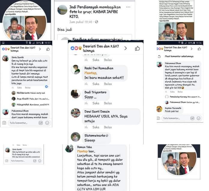 Beri saran pada Jokowi, akun facebook ini malah mendapat bullyan dari warganet, Senin (15/7/2019)
