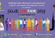 Job fair yang akan digelar Pemprov Jambi, 6-8 September 2019.