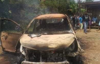 Tersangka pembunuh dua mayat yang hangus di dalam mobil terbakar di Kampung Bondol, Desa Pondokkaso, Kecamatan Cidahu, Kabupaten Sukabumi berhasil ditangkap polisi.
