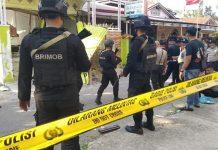 Ledakan keras mirip bom di Tungkal Ilir, Kabupaten Tanjab Barat, Provinsi Jambi, Minggu (18/08/2019) pagi. Kapolres turun langsung ke lokasi. Tampak anggota brimob berada di lokasi. istimewa