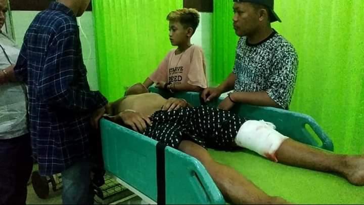 Dilarikan ke Rumah Sakit, Joko mengalami luka serius