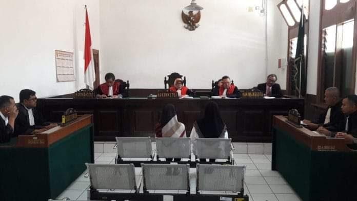 2 ASN yang merugikan negara dari penyelewengan dana BPJS menjalani sidang perdana di Pengadilan Tipikor di Jalan RE Martadinata, Kota Bandung, Rabu (28/08/2019).
