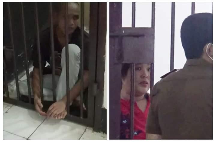 Aksi pencurian pasangan suami istri di Kabupaten Muaro Jambi ini terbilang mengejutkan. Selain beraksi di halaman Masjid, keduanya ternyata sudah beraksi 33 kali. Tampak keduanya sudah dalam sel.