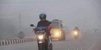 Khafid Moein, Anggota DPRD Provinsi Jambi meminta pemerintah libatkan kades. Foto : kondisi kabut asap.