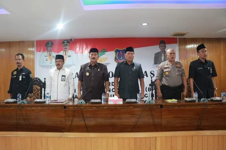 Pimpin Rapat Koordinasi BPNT, Ini Harapan Wabup Amir Sakib, Selasa (17/09/2019) siang. Rakor berlangsung di Gedung Pola Utama Kantor Bupati