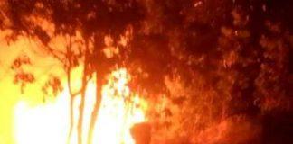 Suasana kebakaran di UIN STS Jambi yang terjadi, Kamis (19/09/2019) pukul 21.25 wib,.