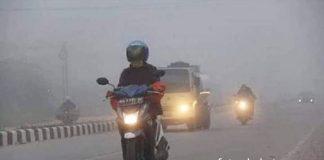Kondisi udara di Kota Jambi semakin memburuk dengan kategori tidak sehat. Kamis (12/09/2019) Pemprov Jambi mengeluarkan 9 himbauan. Foto : Kabut asap