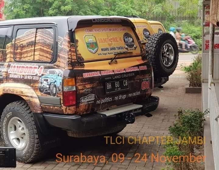 Toyota Land Cruiser Indonesia (TLCI) Chapter 01 membawa wisata Jambi untuk dipromosikan. Salah satu misinya TLCI, membawa Candi Muaro Jambi.