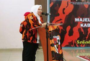 Bupati Muarojambi, Hj. Masnah Busro, menghadiri Pelantikan Pengurus Majelis Pimpinan Cabang (MPC) Pemuda Pancasila Kabupaten Muaro Jambi pada Rabu (28/8/2019).