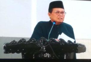 Gubernur Jambi, Fachrori Umar dalam memberikan sambutan di HUT Ke 70 Merangin, Minggu (22/12/2019) membuat riuh suasana Paripurna