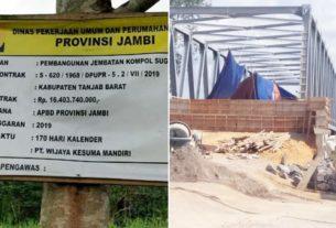 Diduga Asal Jadi, Proyek Rp. 16 Milyar Milik Provinsi Di Tanjabbar Disoal