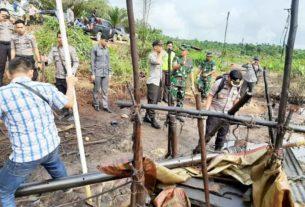 Ketangkap Basah Lakukan Ilegal Drilling di Pauh, 3 Pelaku Diamankan TNI Polri
