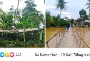 2 Tahun di Jembatan di Merangin Tak Diperhatikan, Warganet : Viralkan Saja