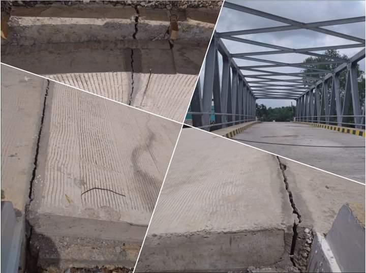 Belum Beroperasi, Oprit Jembatan 16 Milyar Sudah Patah