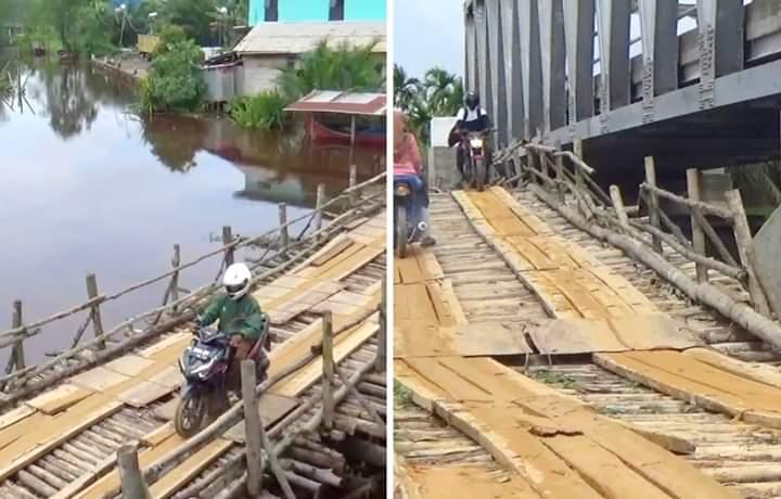 Jembatan 16 M di Tanjabbar, Rugikan Masyarakat
