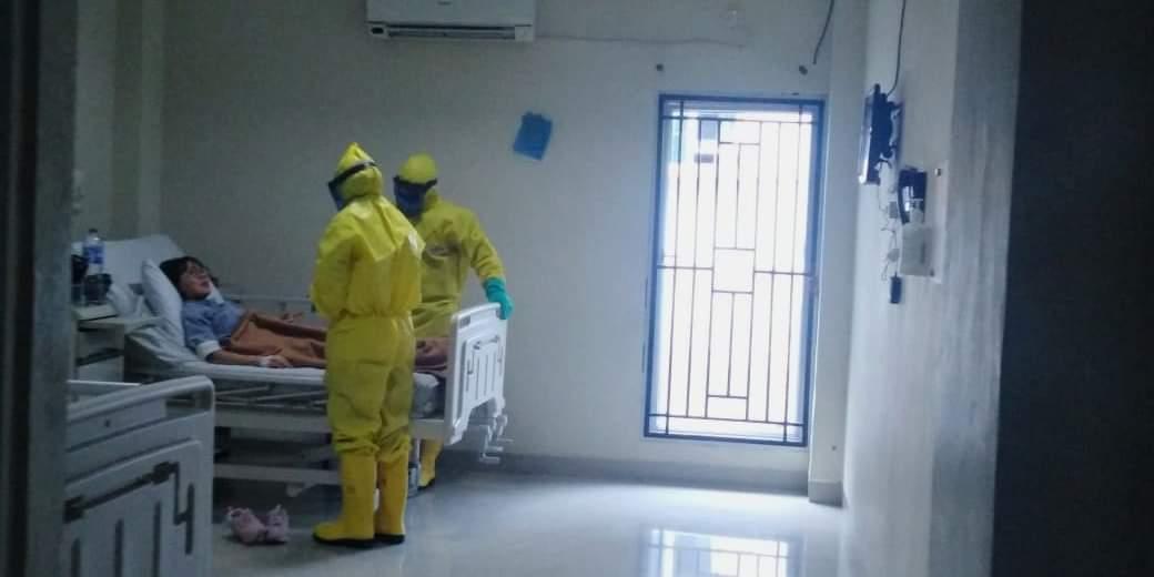 Diduga Virus Corona, seorang pasien mendapatkan perawatan di Rumah Sakit Raden Mattaher, Jambi. Tak mau kecolongan, Dinkes Merangin siagakan puskesmas hingga posyandu