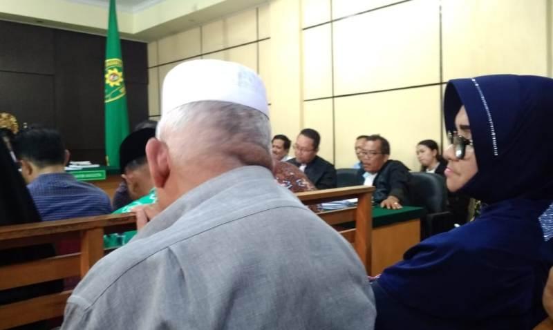 Rahima dalam persidangan Kasus Ketok Palu Jambi, Selasa (21/01/2020)