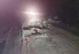 Kerusakan jalan di Desa Jelatang, Kecamatan Pamenang. Ada anggaran perbaikan jalan Pamenang, jika anggaran tak hilang di jalan. Nah loh..??