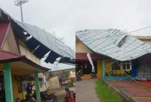 Angin Kencang, Atap Stadion Bhakti Karya Roboh