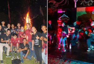 Keseruan Camping 103 Bikers Belasan Komunitas Motor Jambi di Hutan Sabki