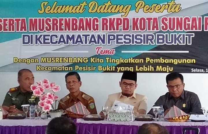 Ketua DPRD Hadiri Musrenbang RKPD di Kecamatan Pesisir
