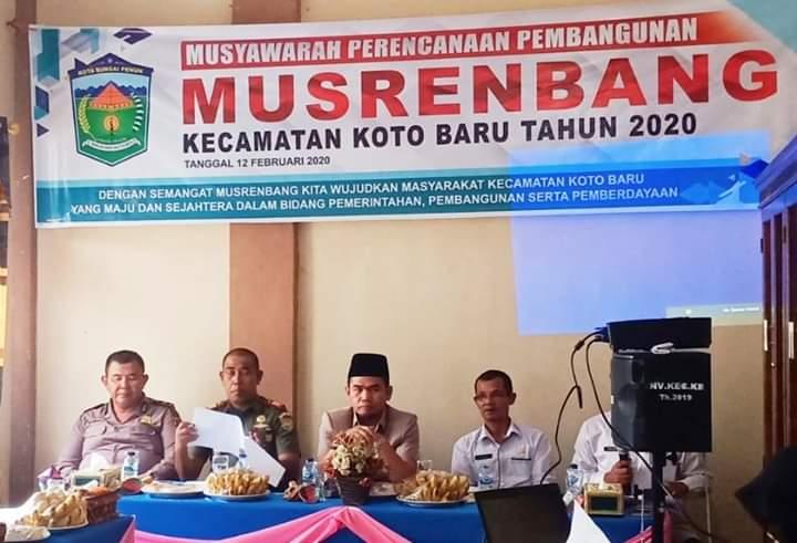 Ketua DPRD Hadiri Musrenbang Kecamatan Koto Baru