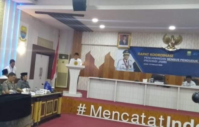 Gubernur Jambi Apresiasi Upaya BPS Dalam Sensus Penduduk