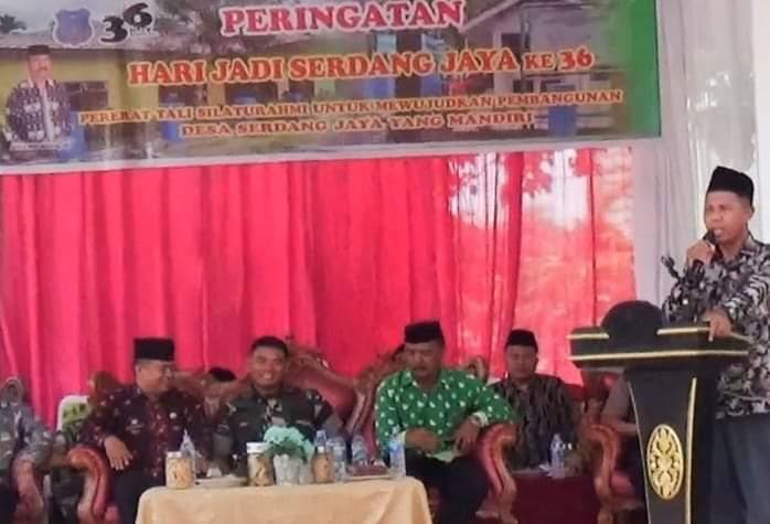 36 Tahun Desa Serdang Jaya, Ini Prioritaskan Kedepan Kades
