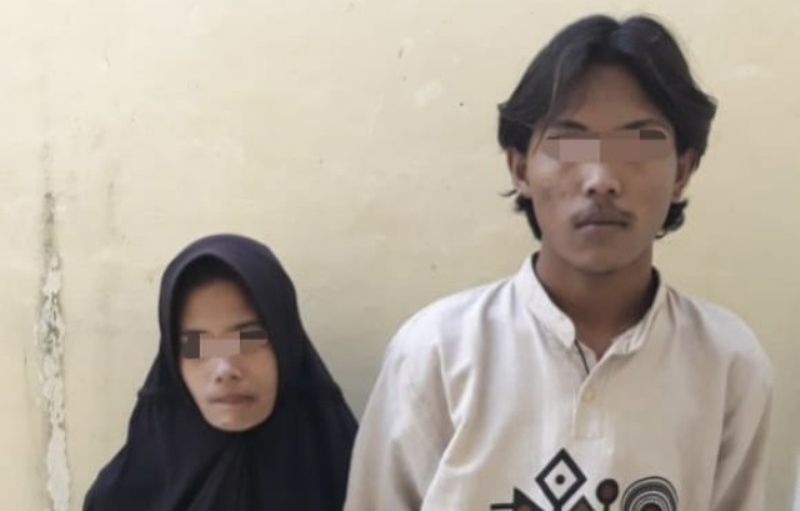 Sadis. Entah apa yang merasuki pasangan ini. Karena ditagih utang, nenek di Inhu, Riau dibunuh sepasang suami istri. Foto : Pasutri tersangka pembunuhan. Istimewa