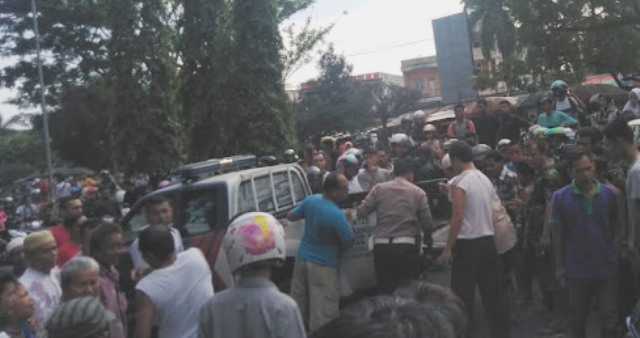 Kecelakaan di Merangin, Rabu (12/02/2020) sore bikin geger. Ini dia identitas 2 korban yang tewas di TKP, depan Kantin PKK.