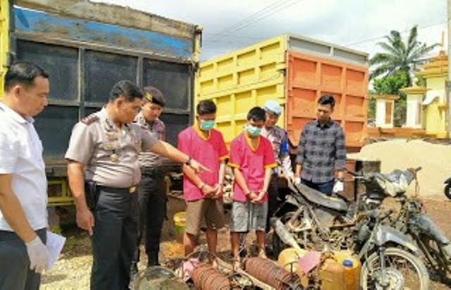 Berita Jambi - Kasus tambang minyak kembali digasak polisi. Kali ini, buruh kasar Ilegal drilling di Batanghari ditangkap Polisi.
