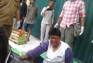 Diduga Gila, Wanita Ini Hampir Sebulan Terlantar di Pasar Angso Duo Jambi