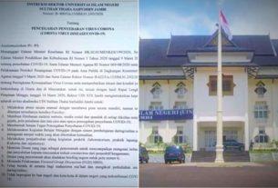 19 Instruksi Rektor UIN Jambi Soal Corona, Diantaranya Belajar Online