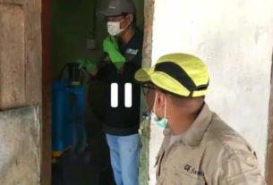 Ponpes Al Munawarah Bangko Disemprot Disinfektan