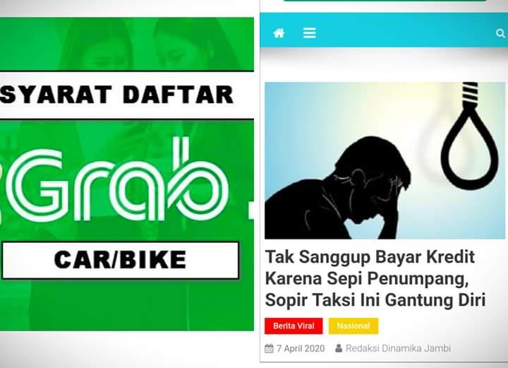Sopir Taksi Online Gantung Diri, Grab Indonesia Berikan Verifikasi
