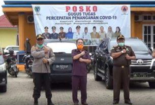 Semakin merebak, bupati gelar rakor penanganan Covid-19 di Batanghari, Senin (06/04/2020. Antisipasi ini dilakukan bersama Forkopimda