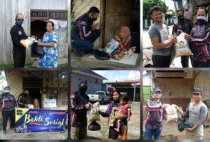 Ditengah Covid-19, Komunitas JMO Bagikan Ratusan Paket Sembako