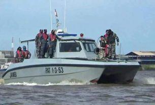 Polri dan TNI AL Razia Kapal Asing Masuk Tanjabbar