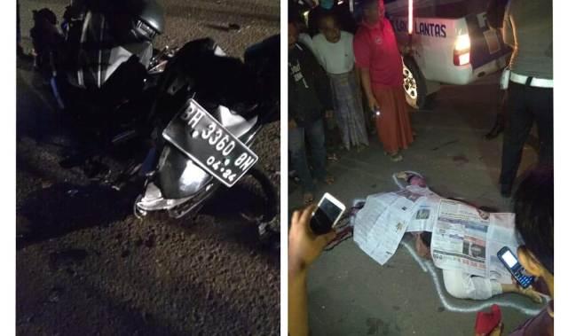 DINAMIKA JAMBI - Kecelakaan dekat UIN STS Jambi, Kamis 25 Juni 2020 malam, 1 tewas, 1 tak sadarkan diri. Korban adalah mahasiswa