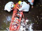 WNA Ini Terjatuh ke Penampungan Air, Karena Dikejar Anjing