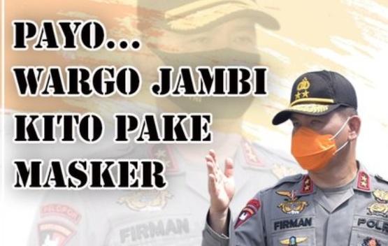 Polisi Ajak Masyarakat Pakai Masker Dengan Bahasa Daerah Jambi