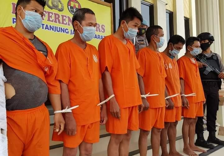 Penangkapan 6 Kawanan Perampokan Toke Pinang, Ini Kronologinya