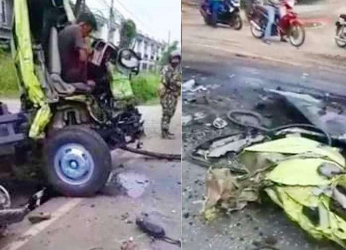 Kecelakaan di Tanjung Lumut, Truk Batu Bara Hantam Pengedara Motor