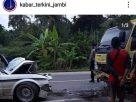 Lagi, Kecelakaan Truk Vs Sedan Di Sungai Landai Jambi